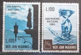 Poštovní známky San Marino 1963 Výstava známek Mi# 774-75