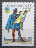 Poštovní známka San Marino 1973 Historická uniforma Mi# 1052