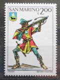 Poštovní známka San Marino 1973 Historická uniforma Mi# 1054