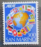 Poštovní známka San Marino 1982 Vlajky a zeměkoule Mi# 1265
