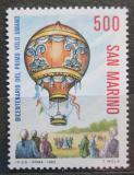 Poštovní známka San Marino 1983 Lety balónem, 200. výročí Mi# 1284
