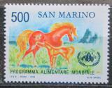 Poštovní známky San Marino 1983 Koně, OSN a FAO Mi# 1287
