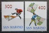Poštovní známky San Marino 1984 Švenkři s vlajkami Mi# 1296-97