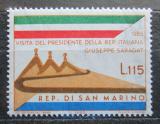Poštovní známka San Marino 1965 Návštěva italského prezidenta Mi# 849