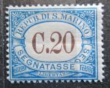 Poštovní známka San Marino 1939 Doplatní Mi# 49