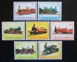 Poštovní známky Rovníková Guinea 1978 Lokomotivy Mi# 1361-67