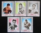 Poštovní známky Adžmán 1969 Boxeři Mi# 382-86 Kat 9€