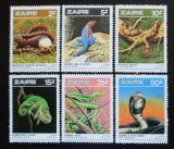 Poštovní známky Zair 1987 Obojživelníci a plazi Mi# 939-44
