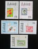 Poštovní známky Zair 1986 Pošta, 100. výročí Mi# 933-37 Kat 9€