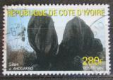 Poštovní známka Pobřeží Slonoviny 1999 Skalní formace v pohoří Ahouakro Mi# 1216