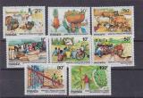 Poštovní známky Rwanda 1985 Zemědělská produkce Mi# 1297-1304