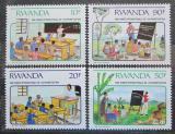 Poštovní známky Rwanda 1991 Mezinárodní rok gramotnosti Mi# 1442-45