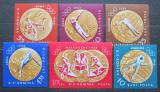 Poštovní známky Rumunsko 1961 LOH Melbourne neperf. Mi# 2010,2013-14,2017-19 Kat 15€