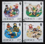 Poštovní známky Jersey, Velká Británie 1989 Evropa CEPT, dětské hry Mi# 476-79