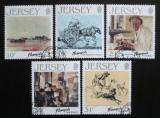 Poštovní známky Jersey 1986 Umění, Edmund Blampied Mi# 388-92 Kat 6€