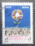 Poštovní známka Nepál 1991 Systém více politických stran Mi# 513