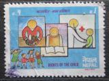 Poštovní známka Nepál 1992 Práva dětí Mi# 525