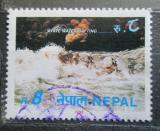 Poštovní známka Nepál 1993 Rafting Mi# 550
