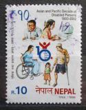 Poštovní známka Nepál 1998 Desetiletí postižených Mi# 679