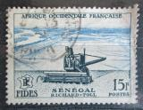 Poštovní známka Francouzská Západní Afrika 1956 Kombajn Mi# 78