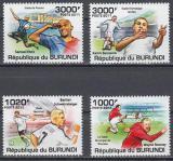 Poštovní známky Burundi 2011 Fotbalisti Mi# 2138-41 Kat 9.50€