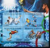 Poštovní známky Burundi 2012 LOH Londýn Mi# 2715-18 Kat 10€