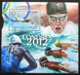 Poštovní známka Burundi 2012 LOH Londýn, plavání Mi# Block 267 Kat 9€