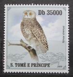 Poštovní známka Svatý Tomáš 2009 Sova Mi# 4270