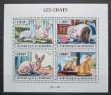 Poštovní známky Burundi 2013 Kočky Mi# 3248-51 Kat 9.90€