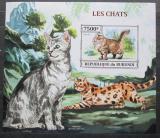 Poštovní známka Burundi 2013 Kočky neperf., vzácná Mi# Block 374 B
