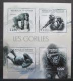 Poštovní známky Burundi 2012 Gorily Mi# 2848-51 Kat 10€
