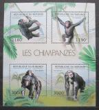 Poštovní známky Burundi 2012 Šimpanzi Mi# 2853-56 Kat 10€