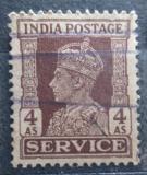 Poštovní známka Indie 1939 Král Jiří VI., služební Mi# 111