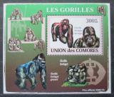Poštovní známka Komory 2009 Gorily Mi# 2145 Block