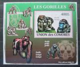 Poštovní známka Poštovní známka Komory 2009 Gorily Mi# 2146 Block