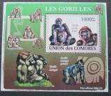 Poštovní známka Komory 2009 Gorily Mi# 2147 Block