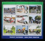 Poštovní známky Tatarstán, Rusko 2001 Motocykly Harley Davidson Mi# N/N