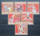 Poštovní známky Komory 2010 Basketbal Mi# 2859-64 Kat 10€