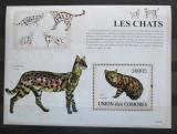 Poštovní známka Komory 2009 Kočky Mi# Block 487 Kat 15€