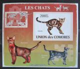Poštovní známka Komory 2009 Kočky neperf. Mi# 2205 B Block