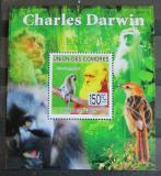 Poštovní známka Komory 2009 Charles Darwin Mi# 2225 Block