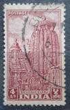 Poštovní známka Indie 1949 Chrám Lingaraja Mi# 198