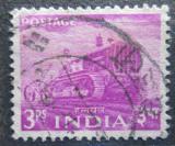 Poštovní známka Indie 1955 Traktor Mi# 238