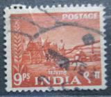 Poštovní známka Indie 1955 Volské spřežení Mi# 240