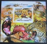 Poštovní známka Komory 2011 Kočkovité šelmy neperf. , vzácná Mi# Block 630 B