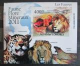 Poštovní známka Komory 2011 Kočkovité šelmy neperf. Mi# 3043 B Block