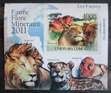 Poštovní známka Komory 2011 Kočkovité šelmy neperf. Mi# 3046 B Block