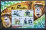 Poštovní známky Burundi 2011 Primáti neperf., vzácné Mi# Block 164 B