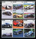 Poštovní známky Komijská rep., Rusko 2003 Staré automobily Mi# N/N