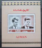 Poštovní známka Adžmán 1968 Bratři Kennedy neperf. Mi# Block 47 B